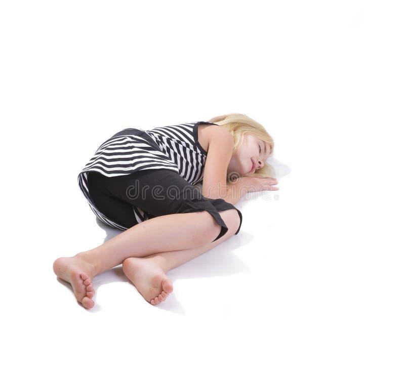 Little girl sleeping royalty free stock image