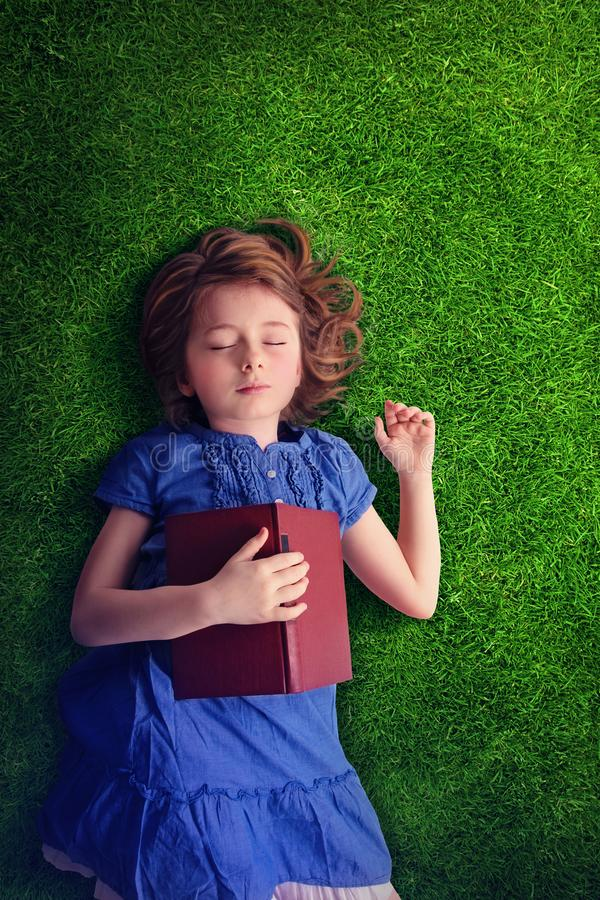 Little girl sleeping stock photos