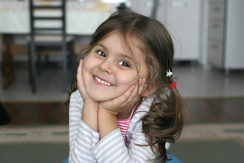 Download Little girl smile stock photo. Image of portrait, happiness - 16892762