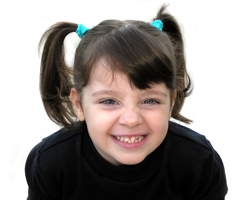 A little girl smiling stock image