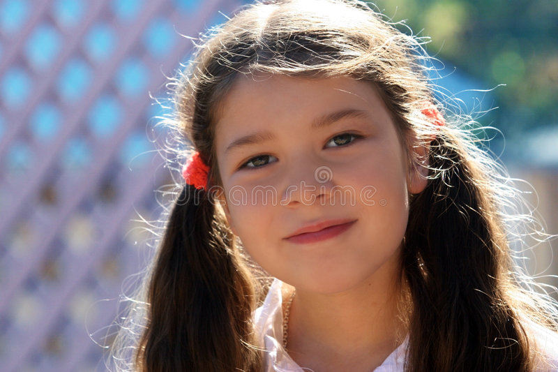 A little girl smiling royalty free stock photography