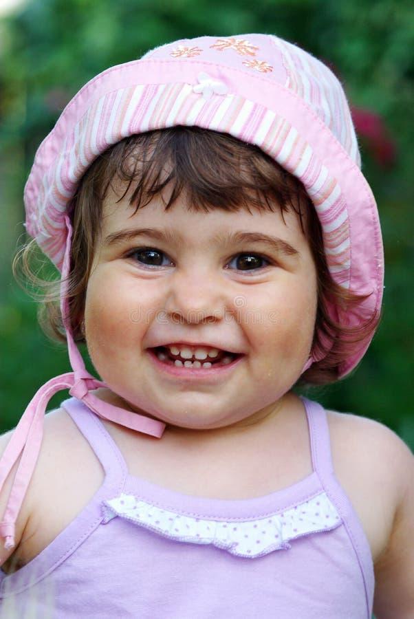 Little girl smiling stock image