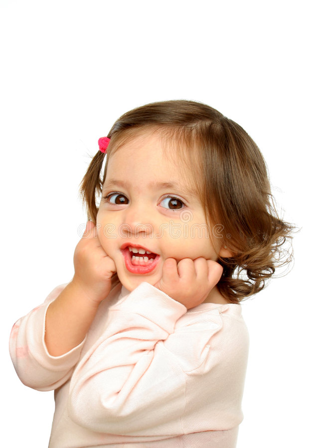 Free Little Girl Smiling At Camera Stock Photography - 763192