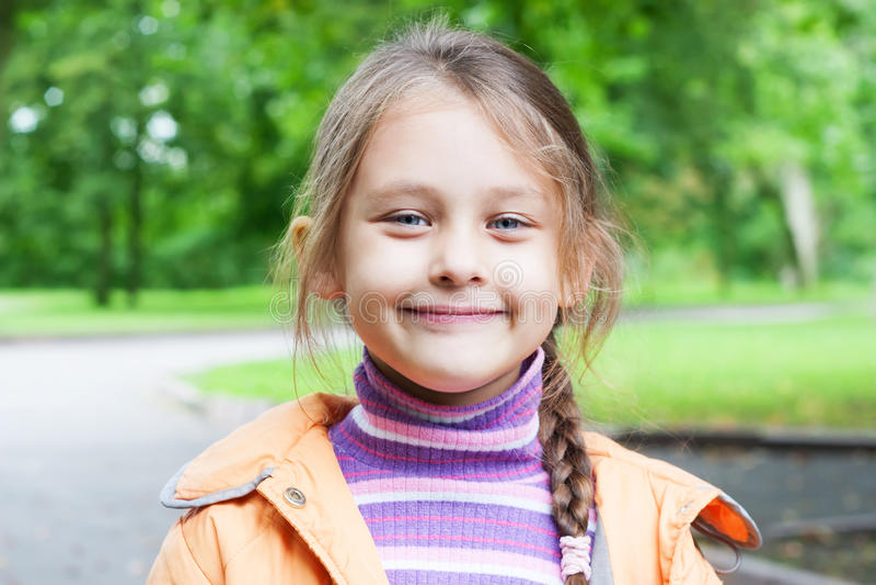 Little girl smiling stock photography