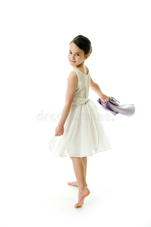 Little girl with smiling expression stock images