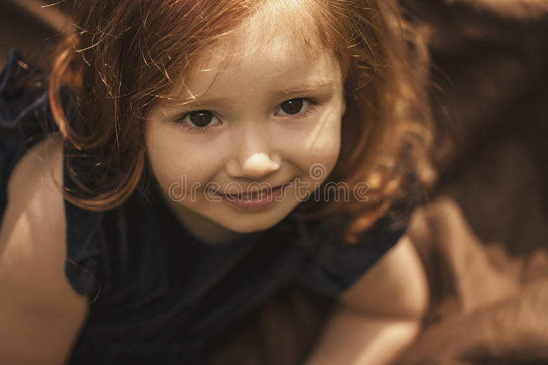 Little girl smilling royalty free stock images