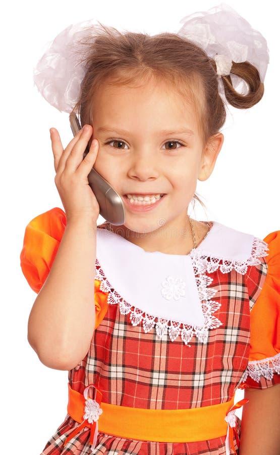Free Little Girl Speaks On Phone Royalty Free Stock Photos - 13835458
