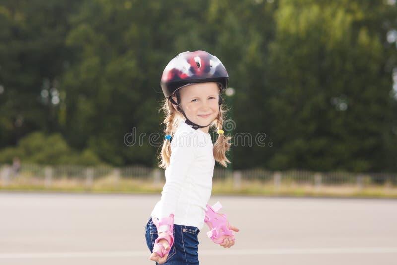 Little Girl Spending Time Outside Royalty Free Stock Photo