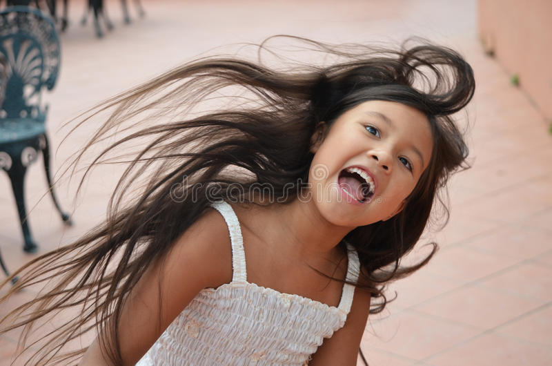 little girl spinning royalty free stock images