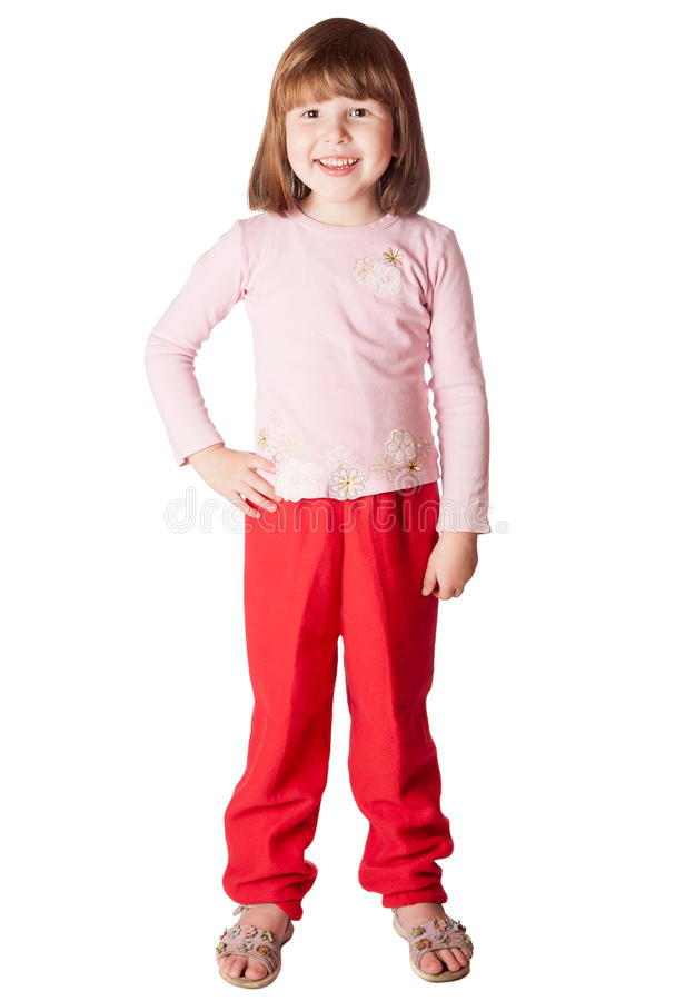 Little Girl standing royalty free stock image