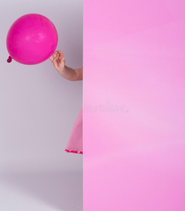 Little girl sticking out royalty free stock image