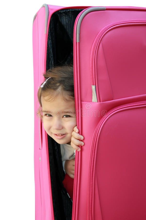 Download Little Girl In The Suitcase Stock Image - Image: 20103447