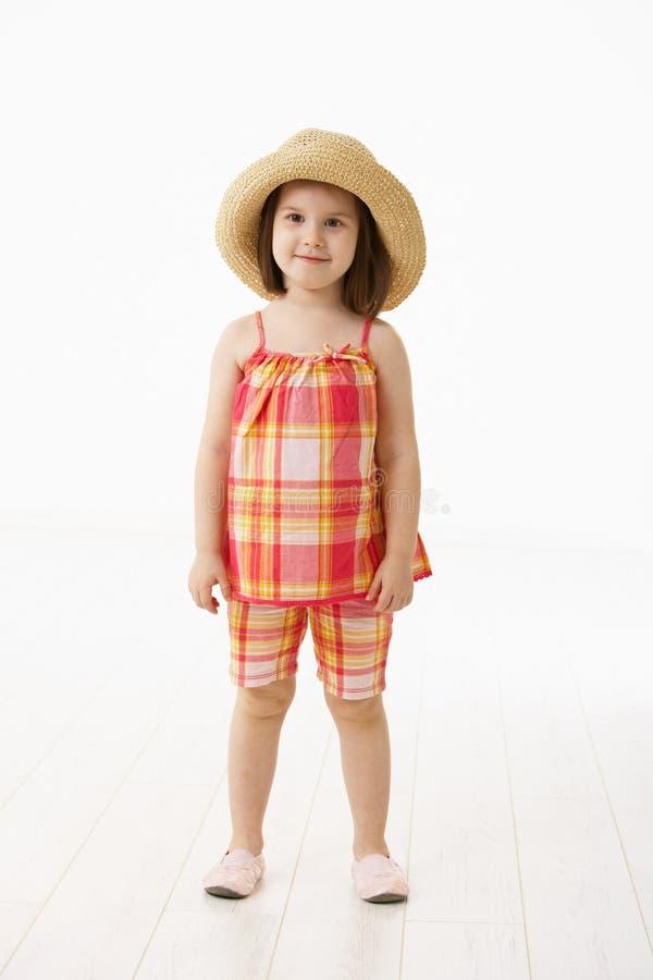 Little girl in summer dress royalty free stock photo