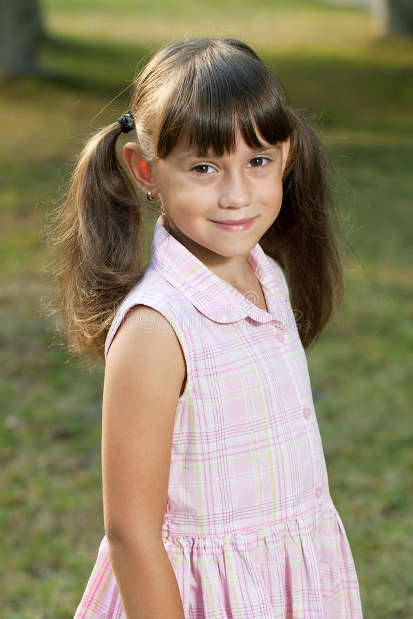 Download Little Girl In A Summer Dress Royalty Free Stock Photo - Image: 26199495