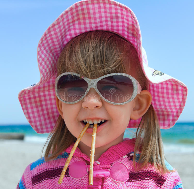 Little girl in sunglasses