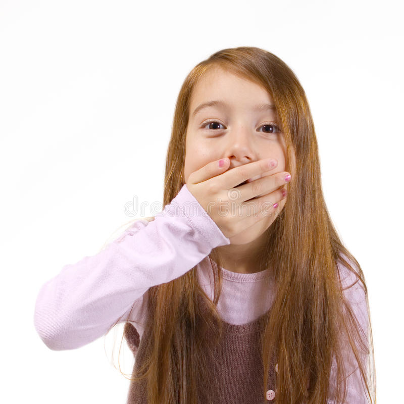 Little girl surprised stock photo. Image of human, smile ...