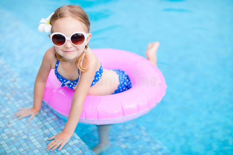 Download Little Girl At Swimming Pool Stock Photo - Image: 27872708