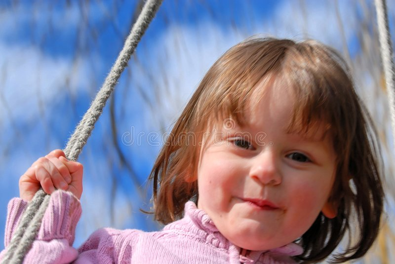 Download Little Girl On A Swing Royalty Free Stock Photos - Image: 2112018
