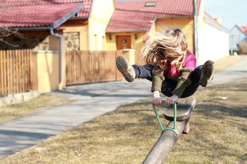 Download Little girl on a swing stock image. Image of pink, people - 23787865