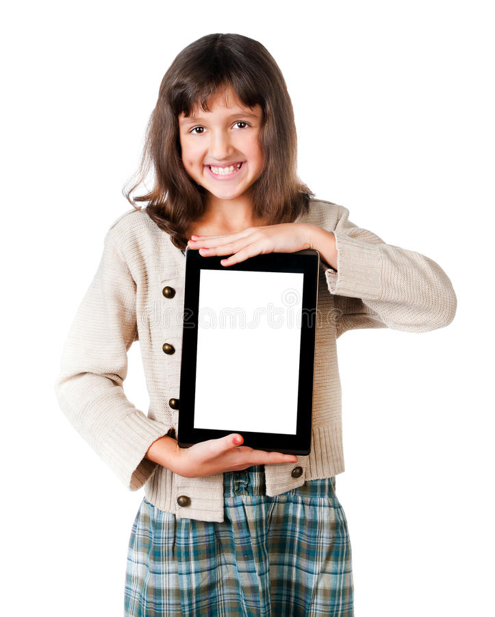 Download The Little Girl With The Tablet Stock Photo - Image: 22901722