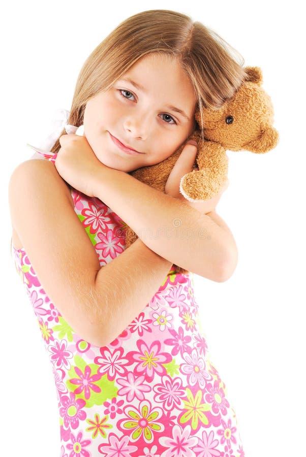 Download Little Girl Taking Teddy Bear Stock Image - Image: 12788329