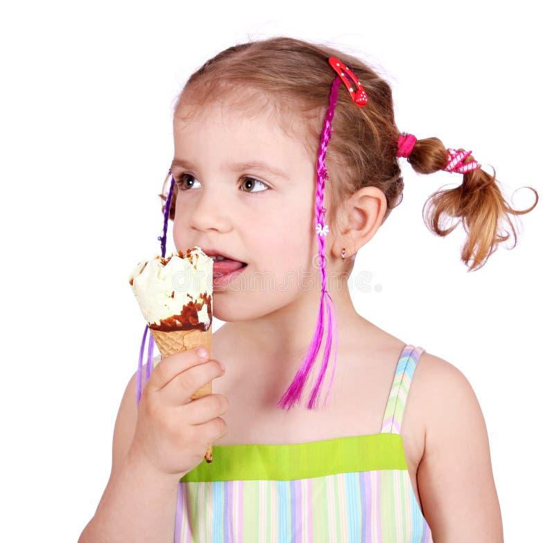 Download Little Girl Taste Ice Cream Stock Image - Image: 19174741