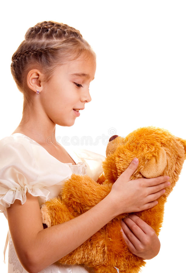 Download Little Girl And Teddy Bear stock image. Image of cute - 11678161