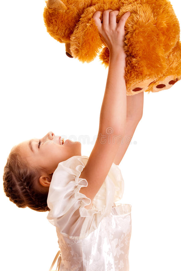Download Little Girl And Teddy Bear stock photo. Image of beauty - 11678180