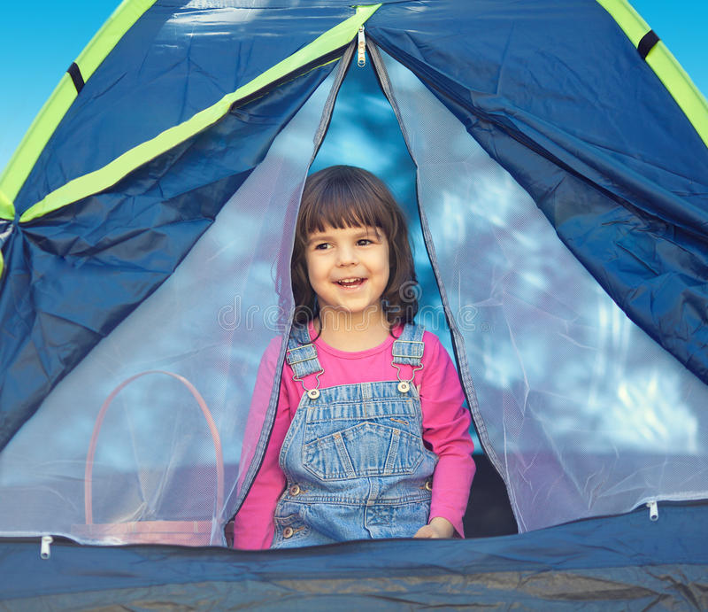 Download Little girl in the tent stock photo. Image of nature - 38893048  sc 1 st  Dreamstime.com & Little girl in the tent stock photo. Image of nature - 38893048