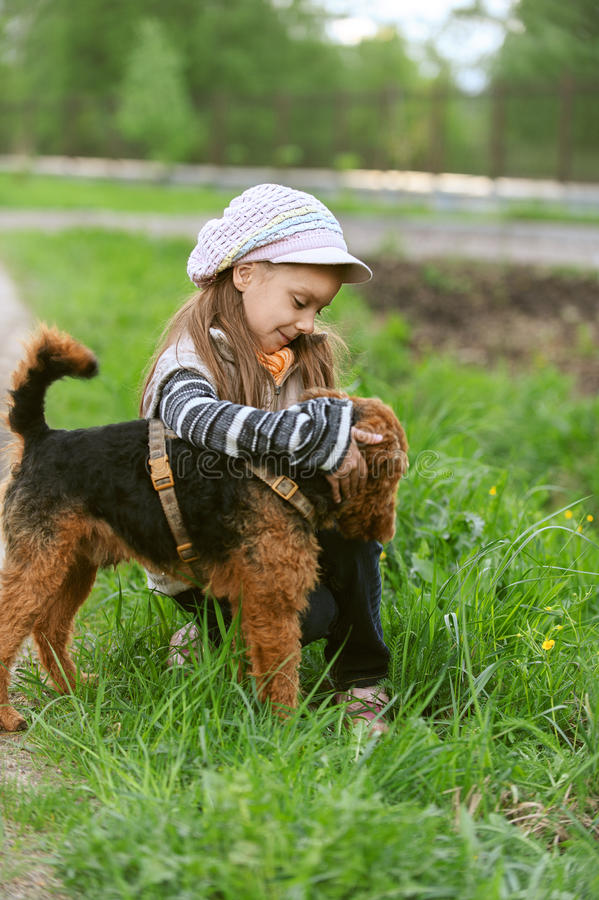 Download Little Girl With Terrier Stock Images - Image: 25985834