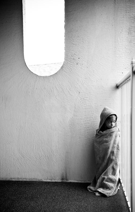 Little Girl In Towel Stock Images