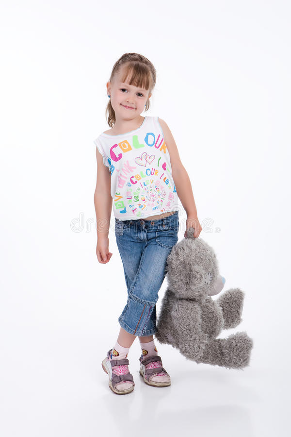 Little Girl WIth Toy royalty free stock images