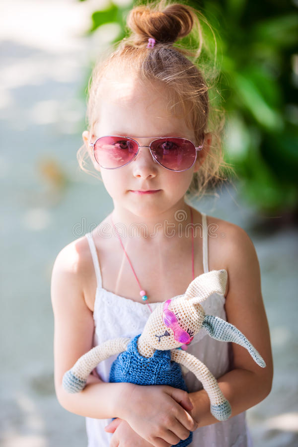 Download Little girl with a toy stock photo. Image of handmade - 40371288