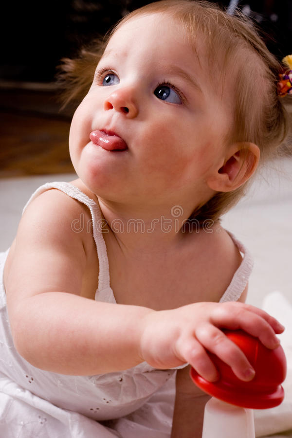Download Little girl with toys stock image. Image of babies, clothing - 10657297