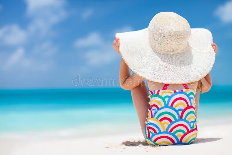 Little Girl At Tropical Beach Stock Photo