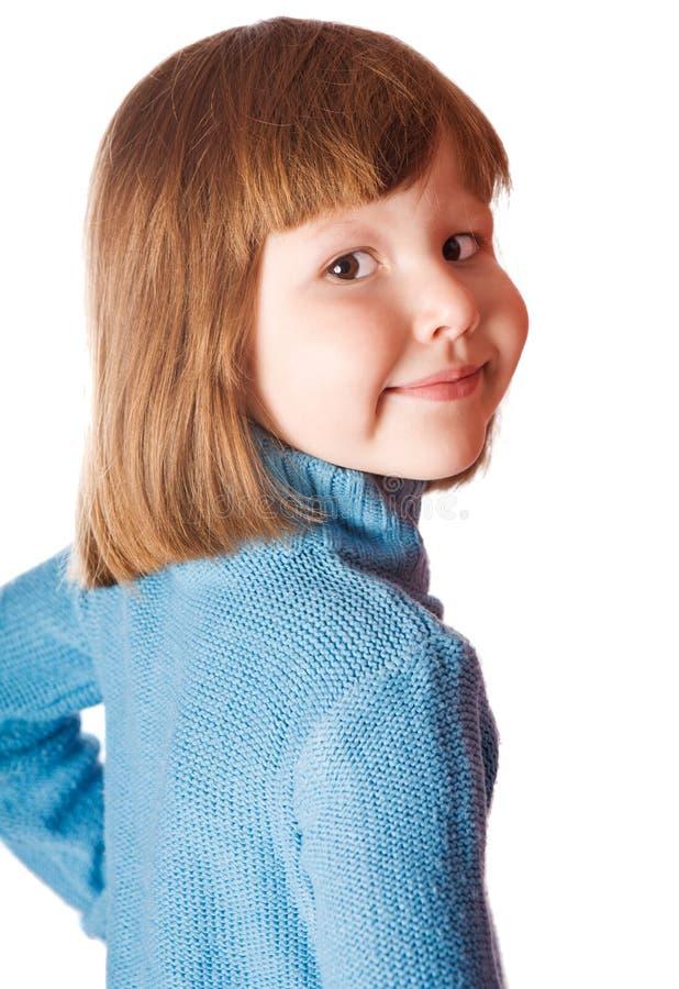 Little girl turned back royalty free stock photo