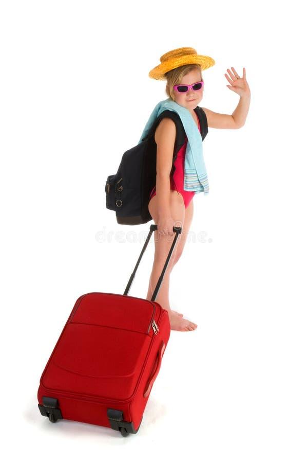 Little girl on vacation stock photos