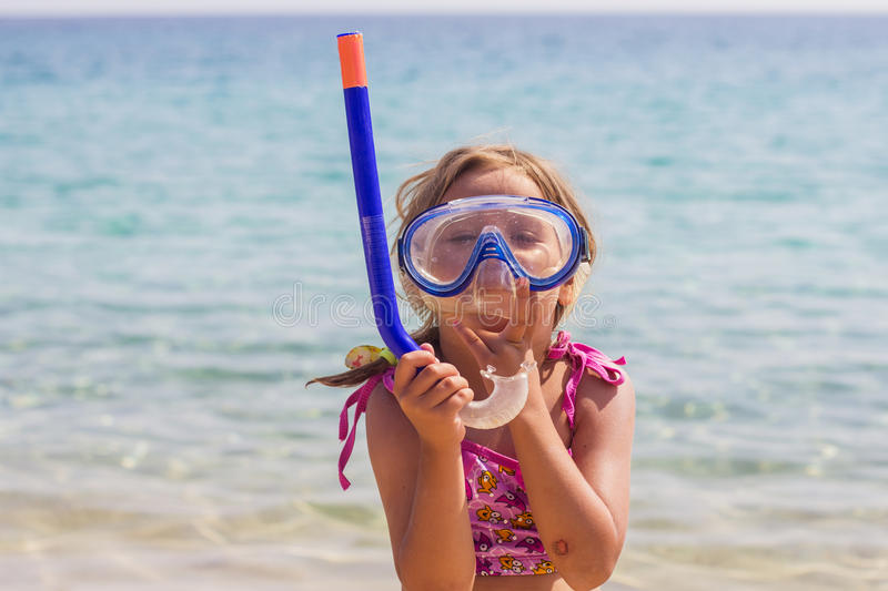 Little Girl Vacation Beach Sea stock images