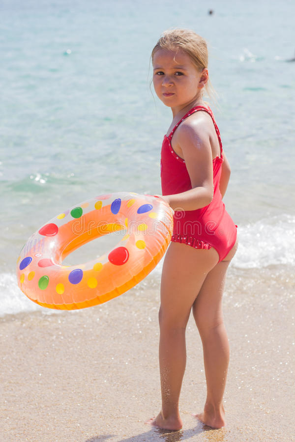Little Girl Vacation Sea royalty free stock images