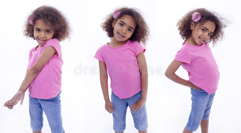 Download Little Girl In Various Poses Stock Photo - Image: 27419204