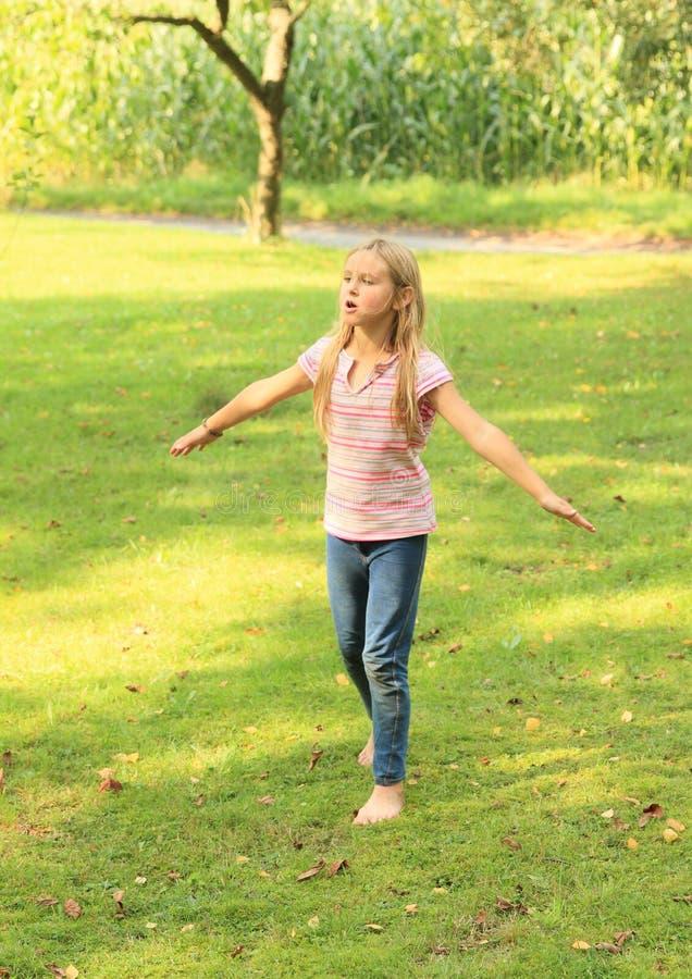Little Girl Walking Barefoot Stock Image Image Of Hairy