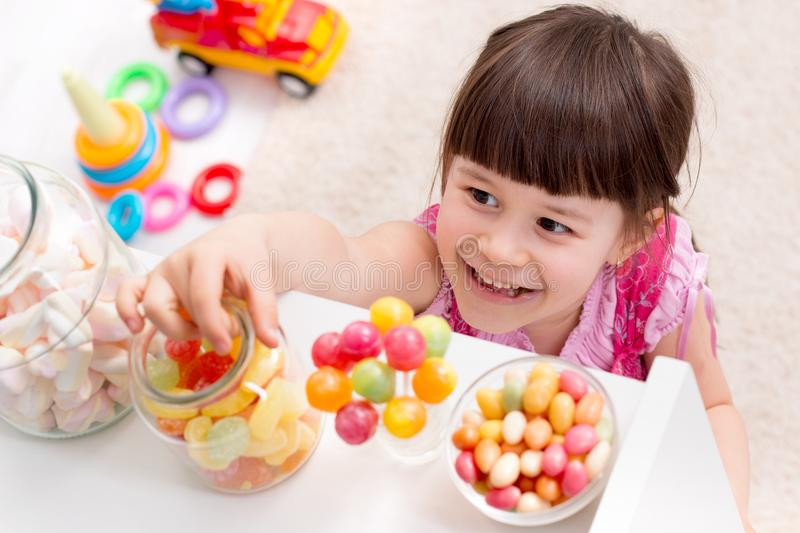 Little girl wants candy royalty free stock image
