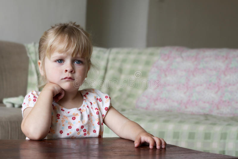 Download Little Girl Watching TV Stock Photo - Image: 41369999