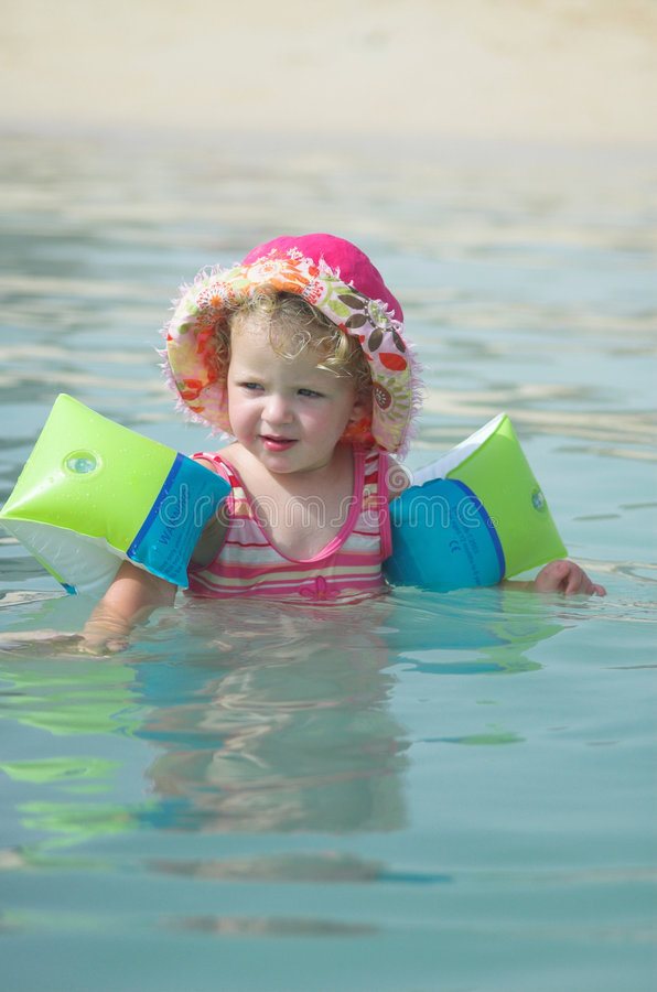 Download Little girl in the water 2 stock photo. Image of floating - 3539220