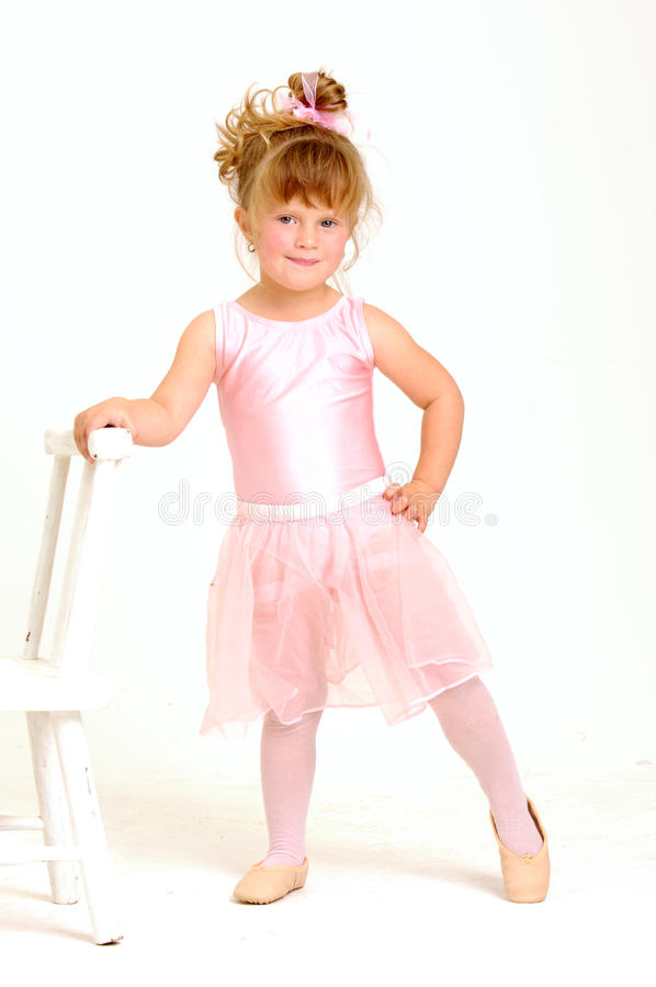 Free Little Girl Wearing A Pink Ballet Outfit And Dance Royalty Free Stock Image - 20076926