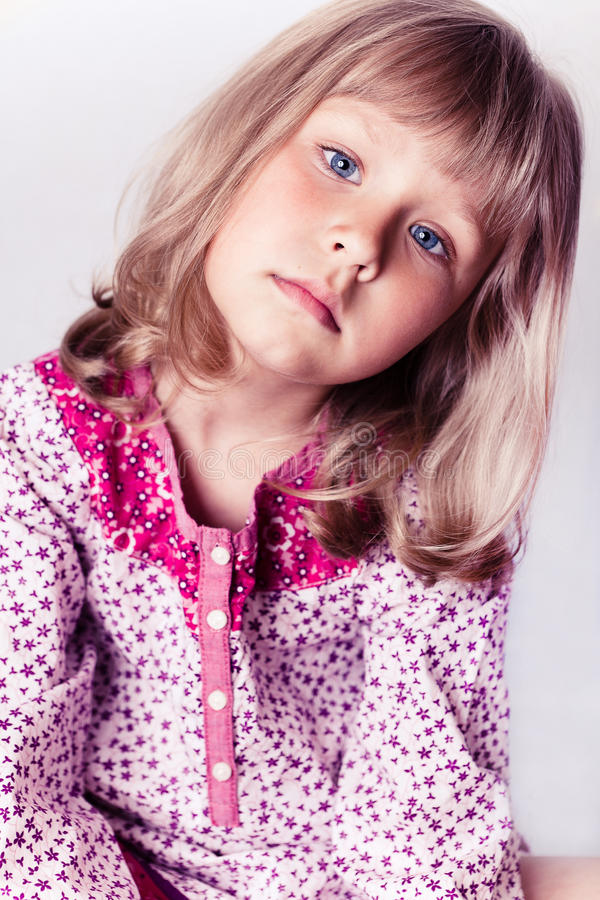 Download Little Girl Wearing A Nightgown Stock Image - Image: 20156377