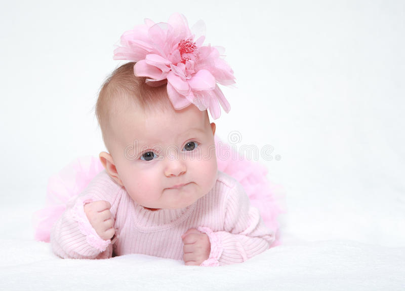 Little girl a on white background royalty free stock photography