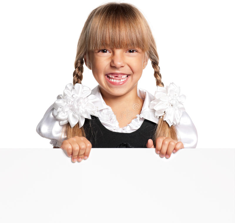 Download Little Girl With White Blank Stock Images - Image: 29315994