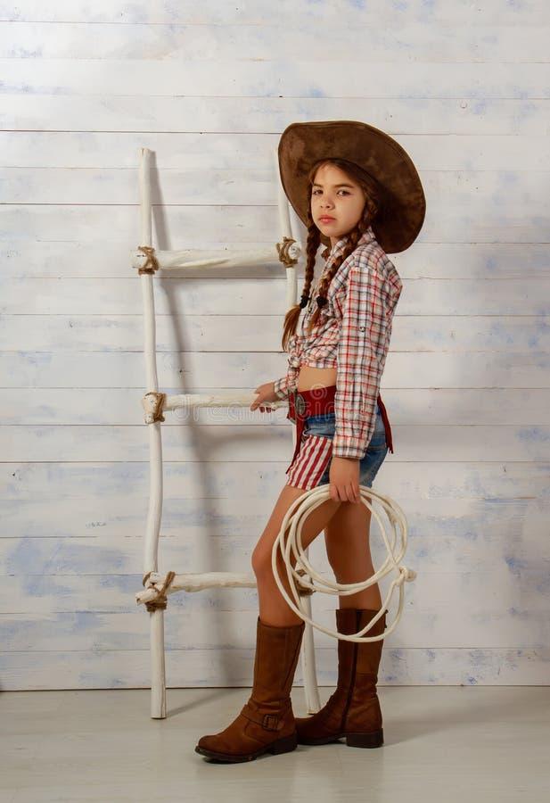Little Cowboy Girl stock photo