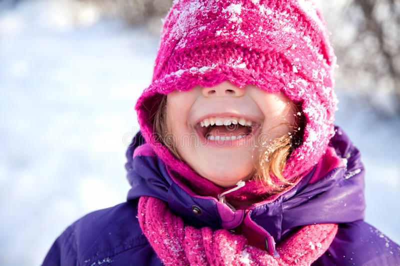 Little girl in Winter stock photography
